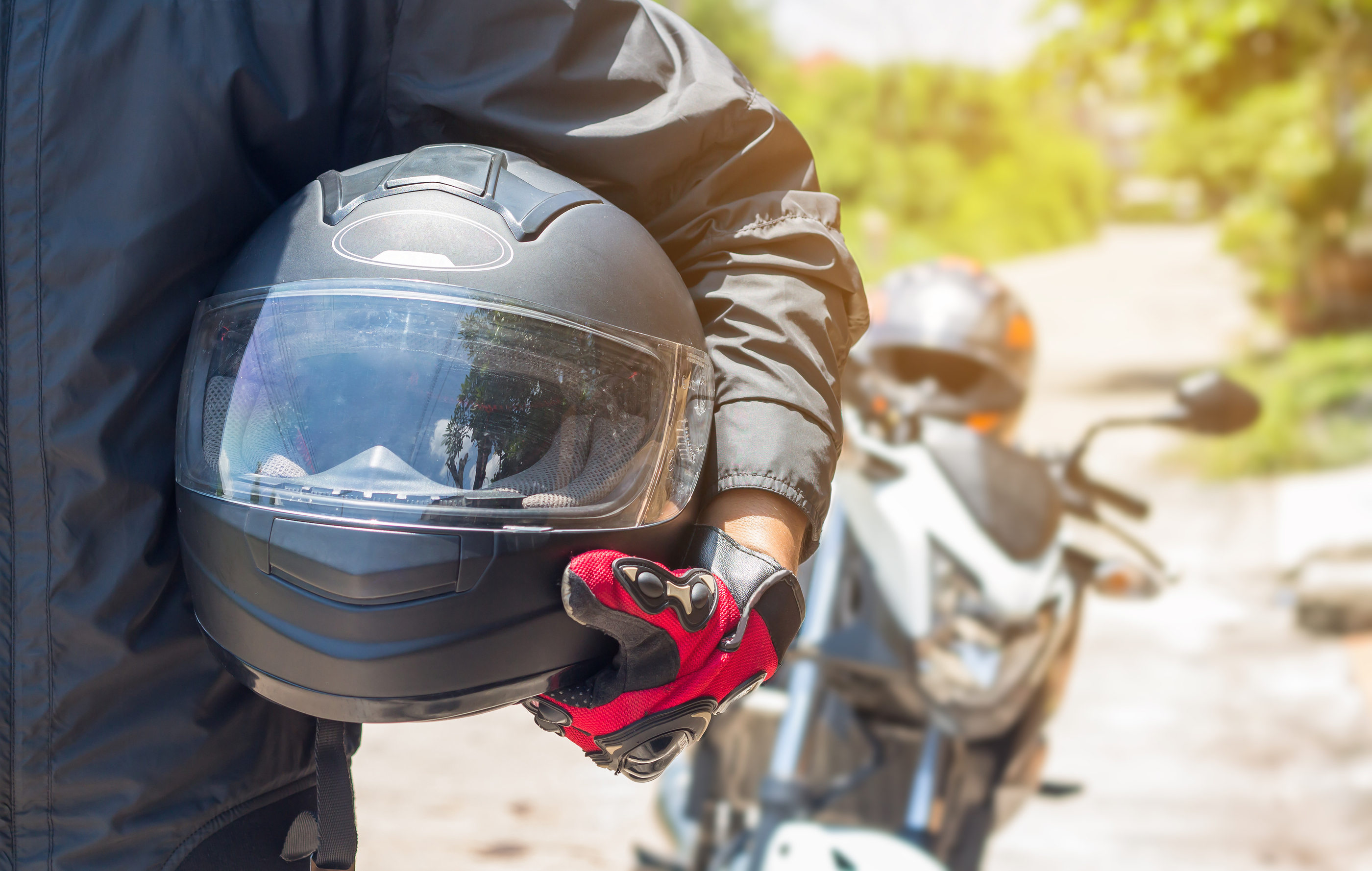 Man riding Motorcycle - white bear lake motorcycle accident attorneys - sand law llc